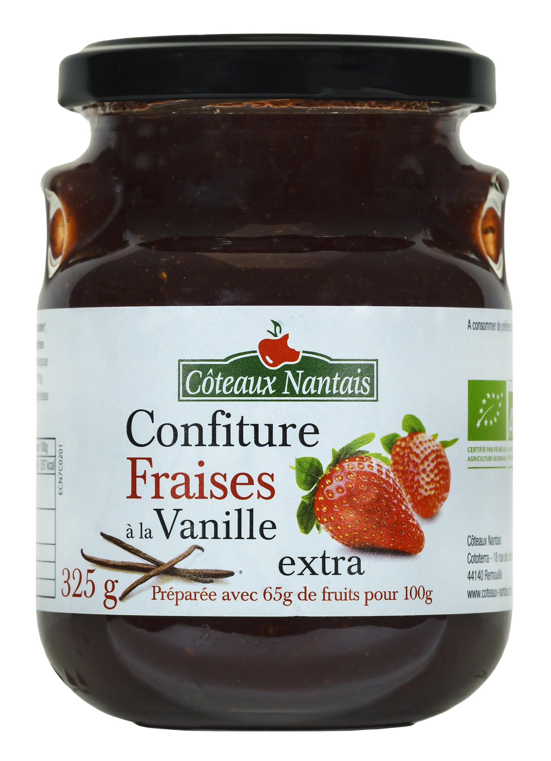 Visuel confiture fraises vanille