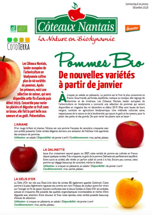 Communiqué de presse Coteaux Nantais