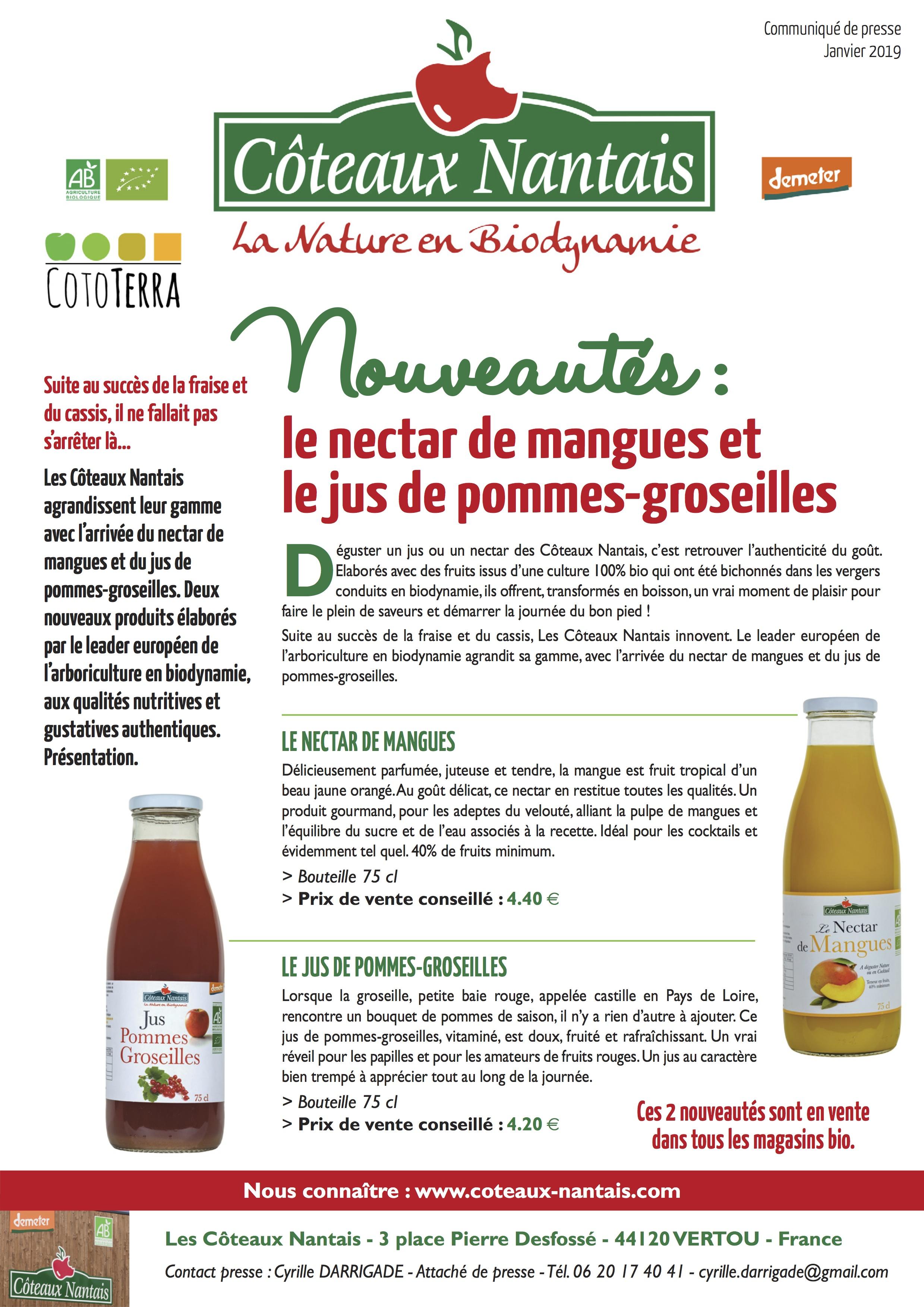 CP Coteaux Nantais Nouveautés