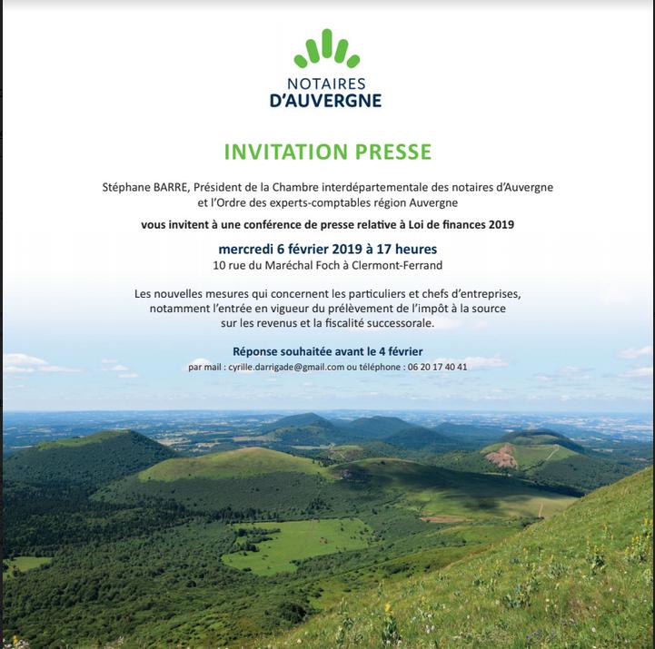 Carton invitation Clermont Ferrand