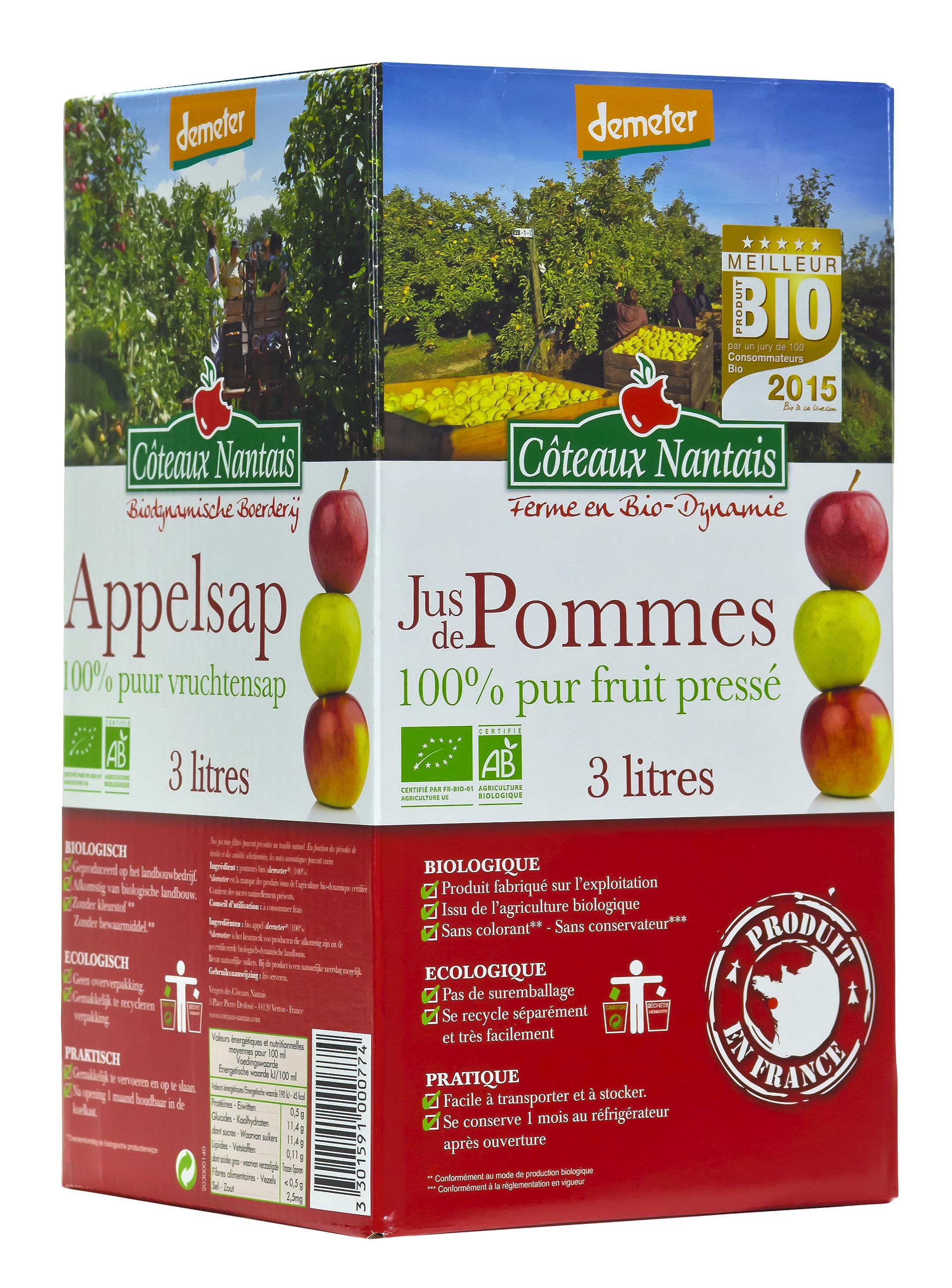 Visuel bib jus de pommes 3 L