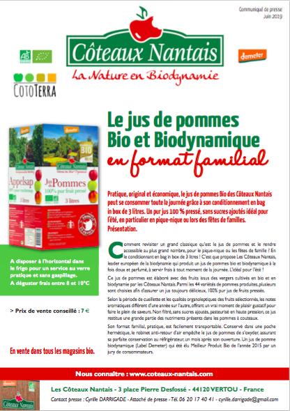 Communiqué de presse Bib Côteaux Nantais