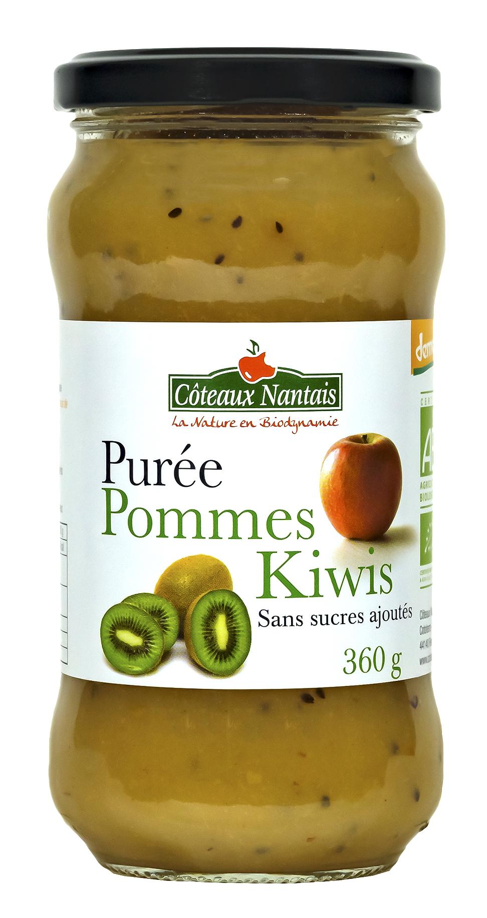 Purée de pommes kiwis
