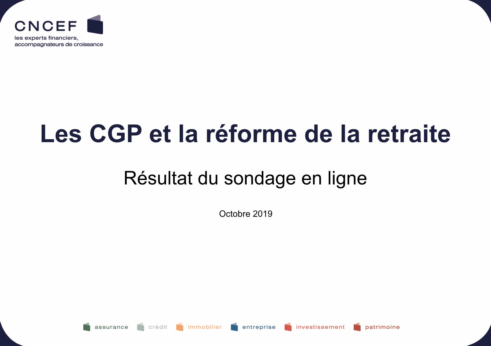 Enquête CGP et retraite
