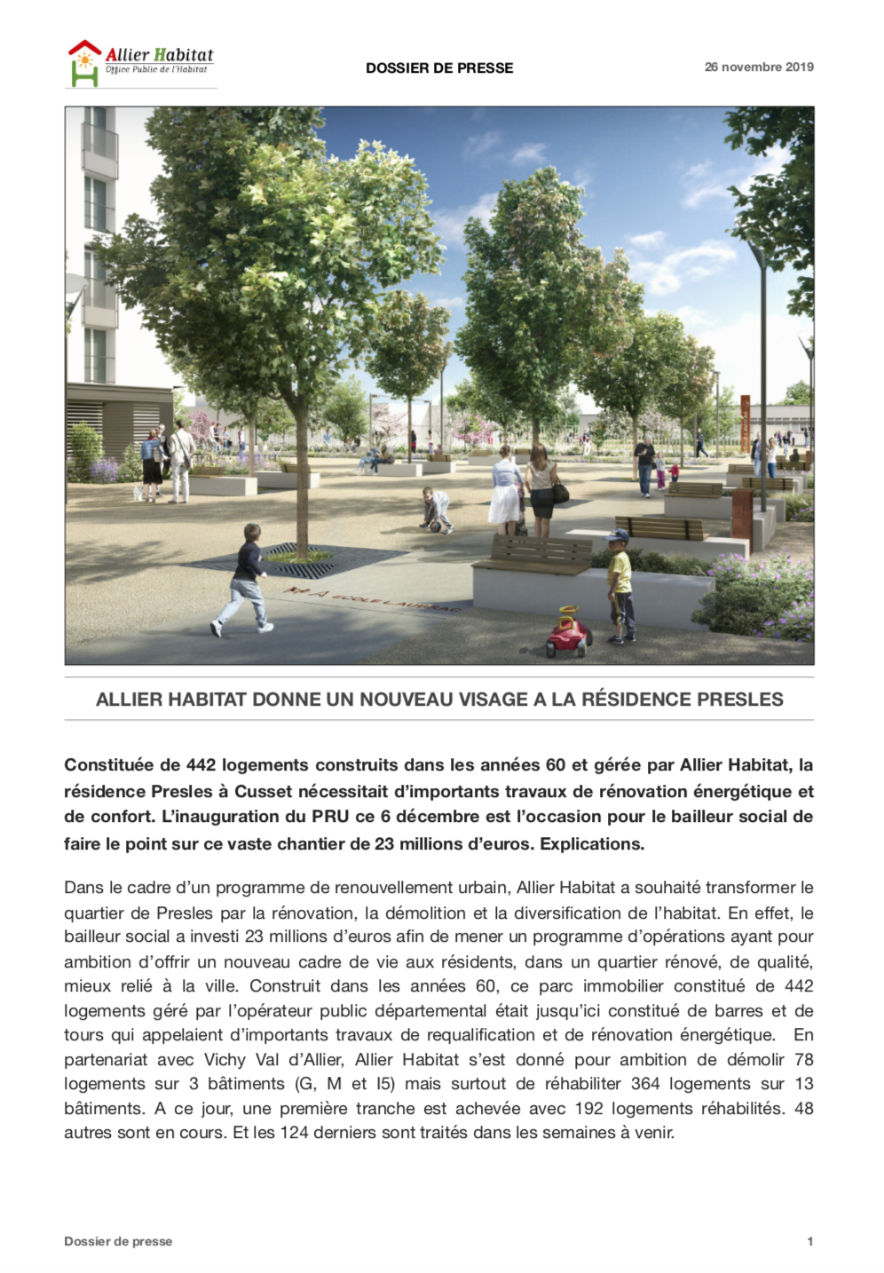 Dossier de presse Allier Habitat