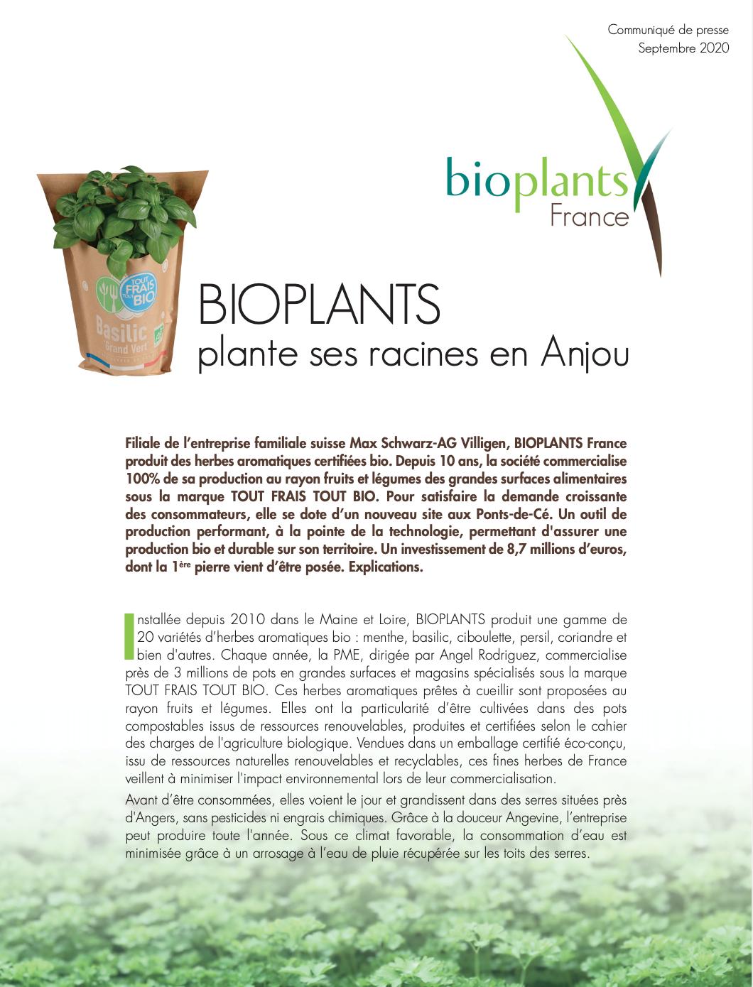 Communiqué bioplants