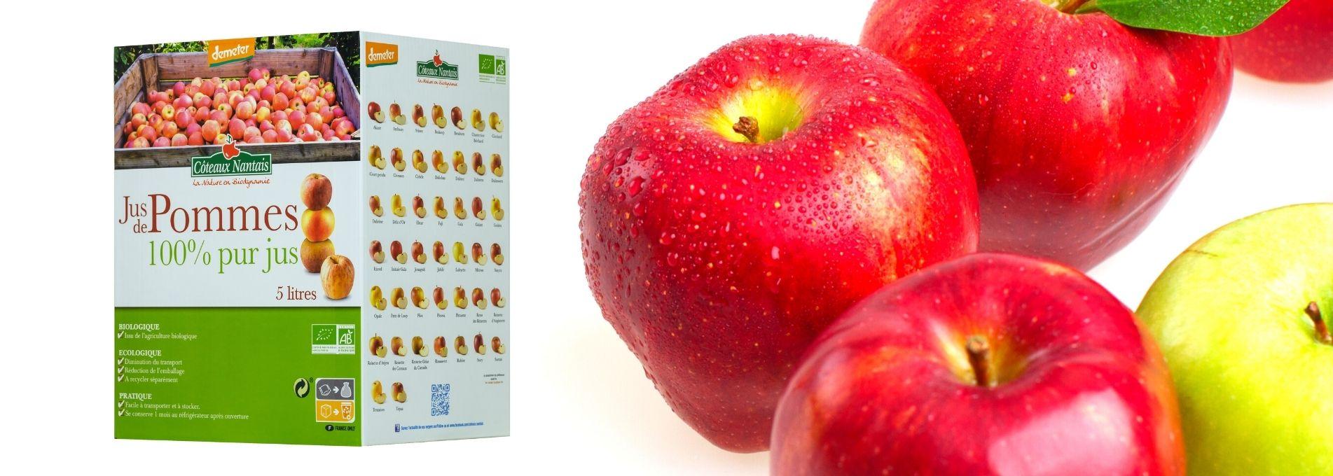 Le jus de pommes bio en maxi format