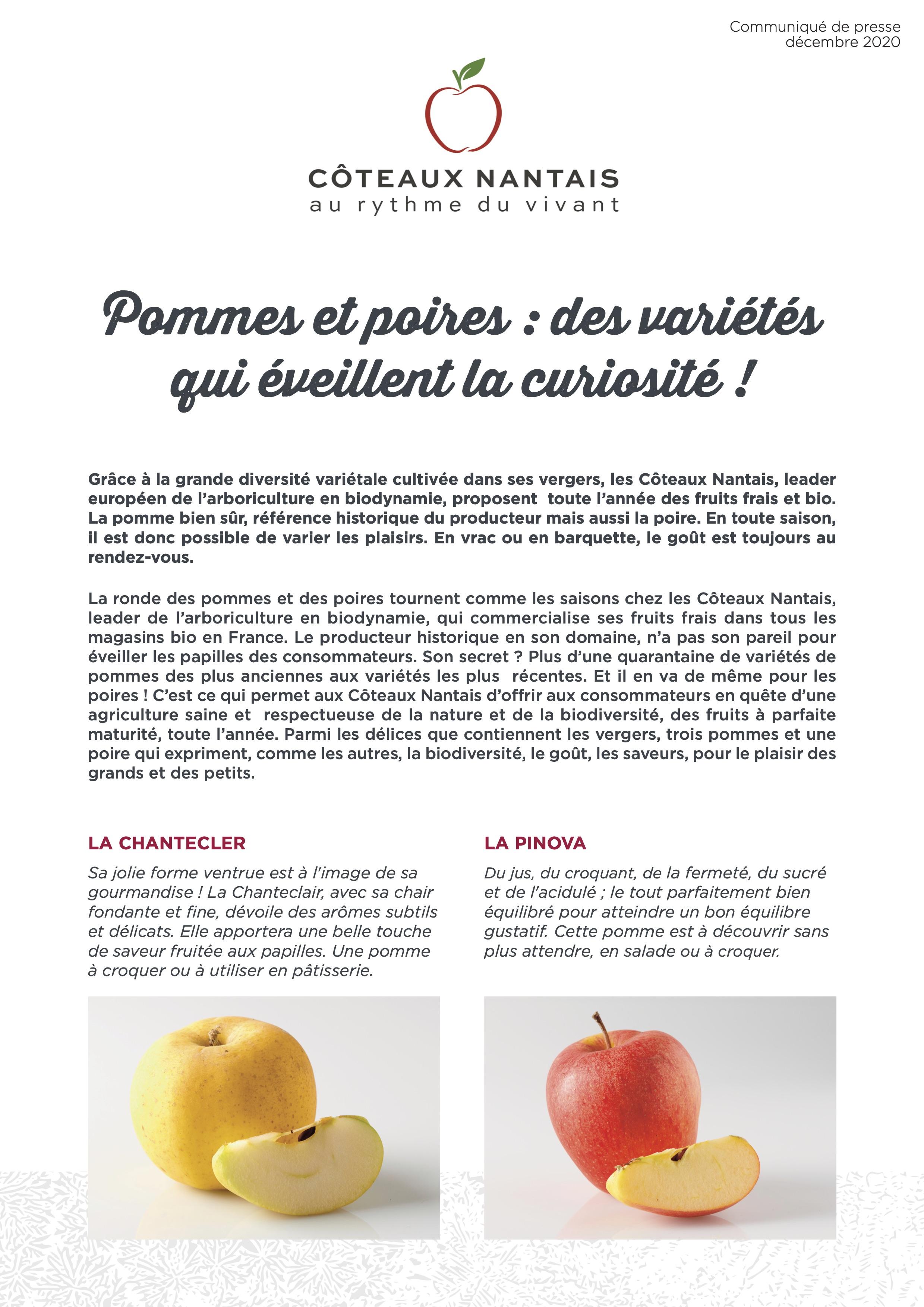 CP pommes poires