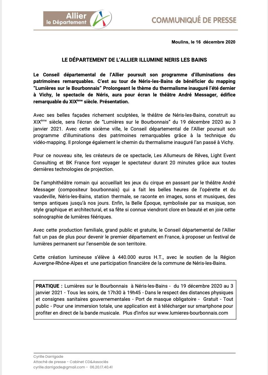 CP Néris les Bains